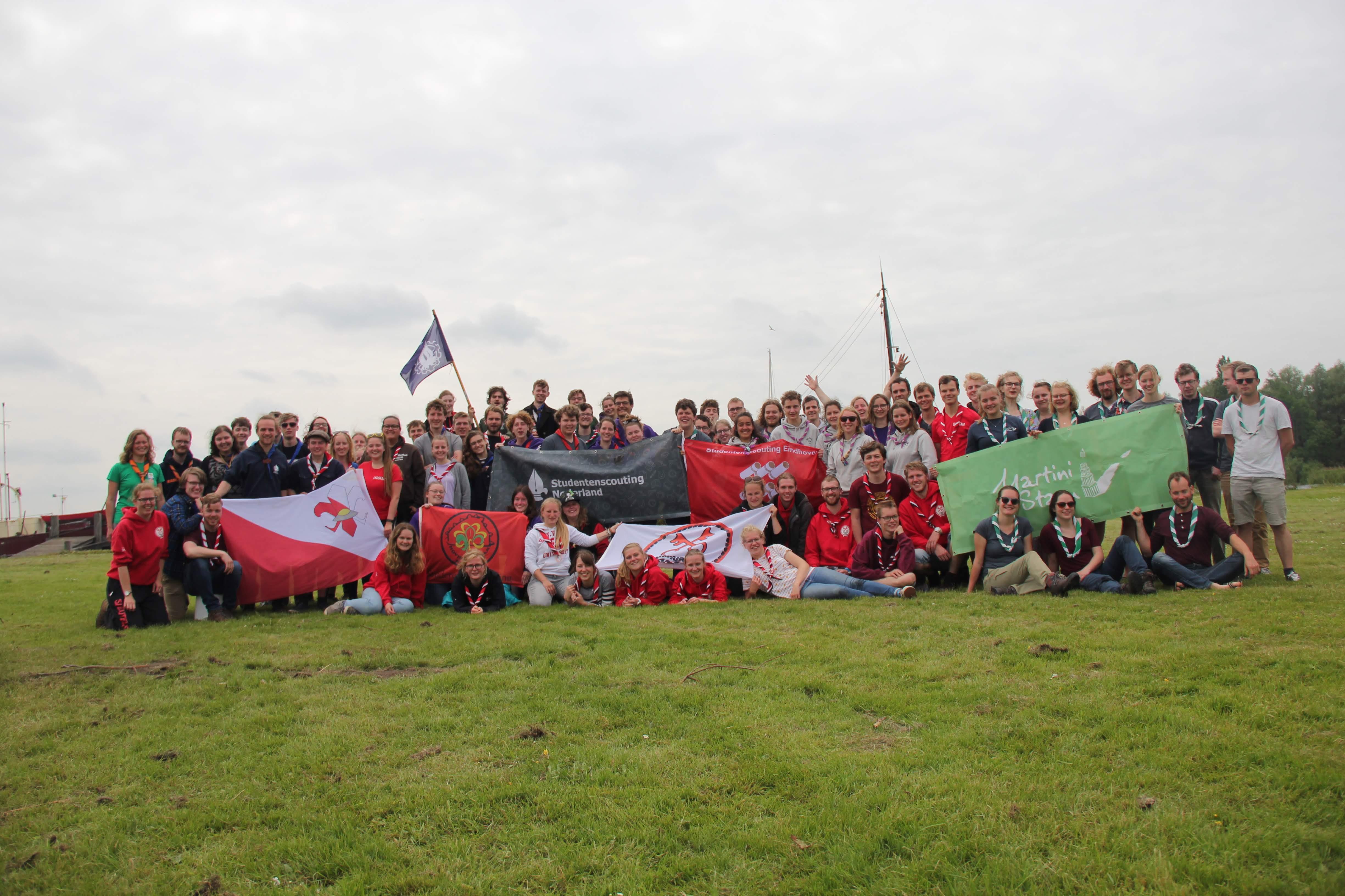 Ufostam U.F.O.-Stam SSW groepsfoto studentenscouting nederland